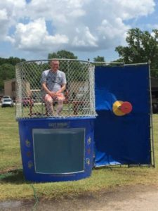 First Bank of Chandler President Monte DeBord in the Dunk Tank