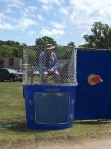 Chandler Mayor Gene Imel in the Dunk Tank